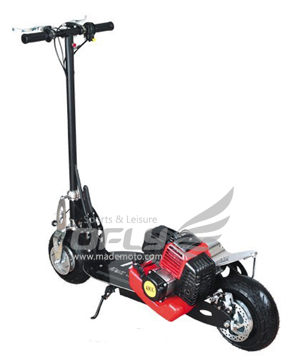 43cc ce approved foldable gas scooter with steel board gs4302 for Gas powered motorized scooter