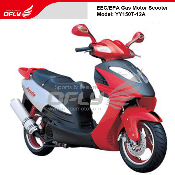 Eec eap approved 150cc gas motor scooter equipped with for Cheap gas motor scooters