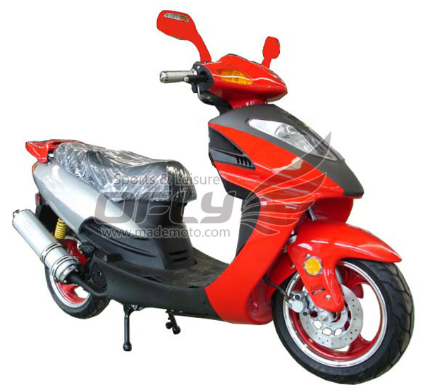 Eec eap approved 50cc gas motor scooter equipped with for Cheap gas motor scooters
