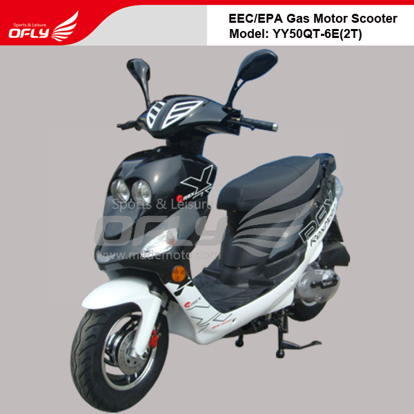 Dot epa approved 50cc gas motor scooter equipped with for Cheap gas motor scooters